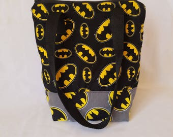 Insulated lunch bag, batman lunch bag, waterproof lunch bag, kid's lunch bag, adult lunch bag, lunch tote, lunch bag for men