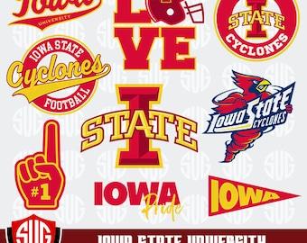 Iowa State University monogram svg, Iowa State Silhouette Studio,Iowa State University Cricut, Screen Printing, Cameo, Logo_15