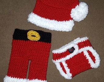 Santa Suit Infant Photo Prop