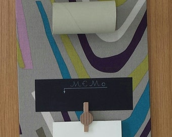 Wall chalkboard to write notes with pencil holder roll of recycling