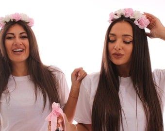Bridesmaid Headbands. Bridesmaid Flower Headbands. Bachelorette Headbands. Spring Flower Headbands. Bride Flower Headband. Bridesmaid Tiara