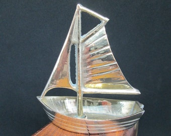 Yacht | Brass boat| Sailing | Collectible | Paperweight| Collectable | Ornament
