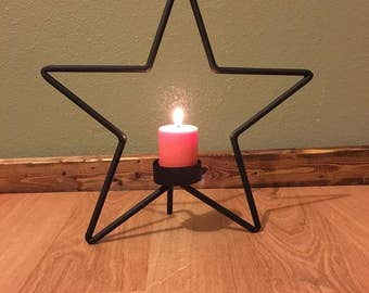 Single Star Teacup Candle Holder