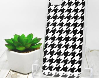 Houndstooth iPhone 7 Case - Black White Dogtooth Pattern - iPhone 7 Plus Case