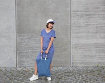 Kleid ' blue peach'