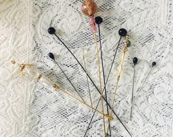 Vintage Hat Pins, Hat Pins, Antique Hat Pins