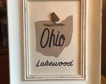 Ohio Custom Bird art