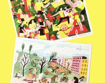 Spring + Summer illustration mini prints!