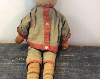 Antique boy rag doll