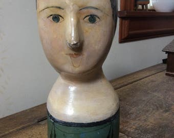 Antique Paper Mache Milliners Head