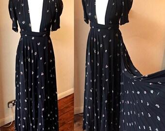 Vintage Ossie Clark with Celia Birtwell fabric Quorum wrap dress size UK8/10
