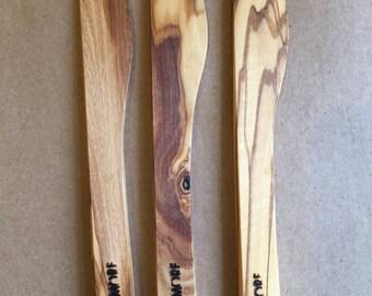 olive wood butter knife