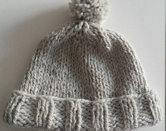 Hand made wool hat 'Stormy Sky'