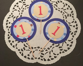 12 Number Cupcake Toppers
