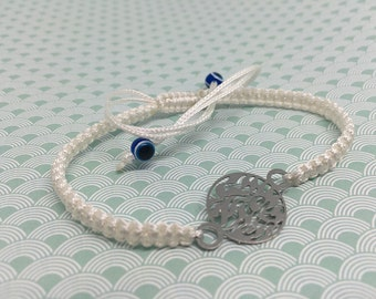 Shema Israel Kabbala bracelet with white thread
