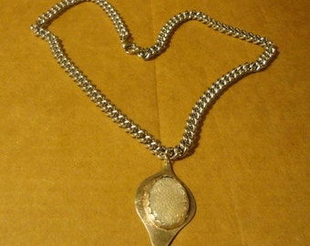 Designed Mother of Pearl in Sterling Silver Necklace