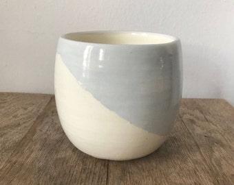 Silver diagonal pot