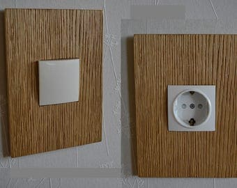 Set of switch and socket cover, wooden covers, light switch cover, socket cover, electrical outlet, custom made covers