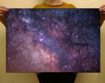 Purple Space Nebula Premium Wrapping Paper 50 x 70cm Free Shipping UK Birthday Gift Wrap Galaxy Print