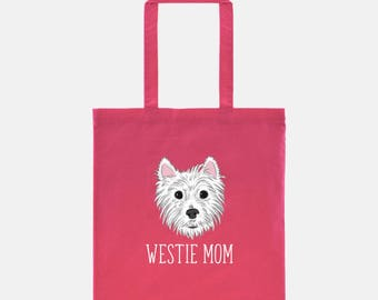 West Highland White Terrier Tote Bag | Westie Mom | Westie Gift | Cute Dog Tote | Dog Bag | Dog Lover Gift