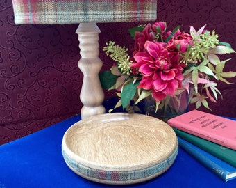 Hand Turned English Oak Tartan Platter