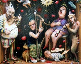 Enchantimals Fine Art Print: Nancy's Third Attempt at a Band
