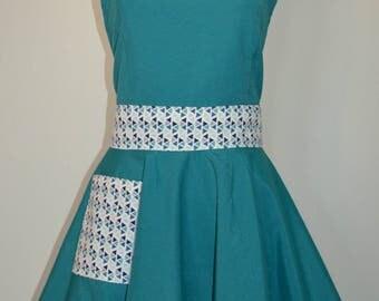 SMOCK/APRON VINTAGE pin up woman apron, apron, retro apron