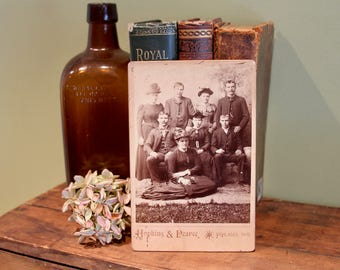 Antique Cabinet Card Family Photo. Late 1800s Collectible Photo, Scrapbooking, Art Supply, Antique Collection, Antique Photo, Victorian