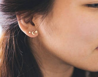 Moon and Stars Earrings (3 colors)