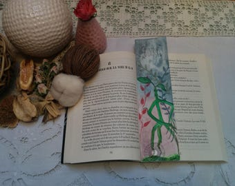 "Bookmarks made hand ""Botruc"", fantastic animals, Bookmark Art drawing print"