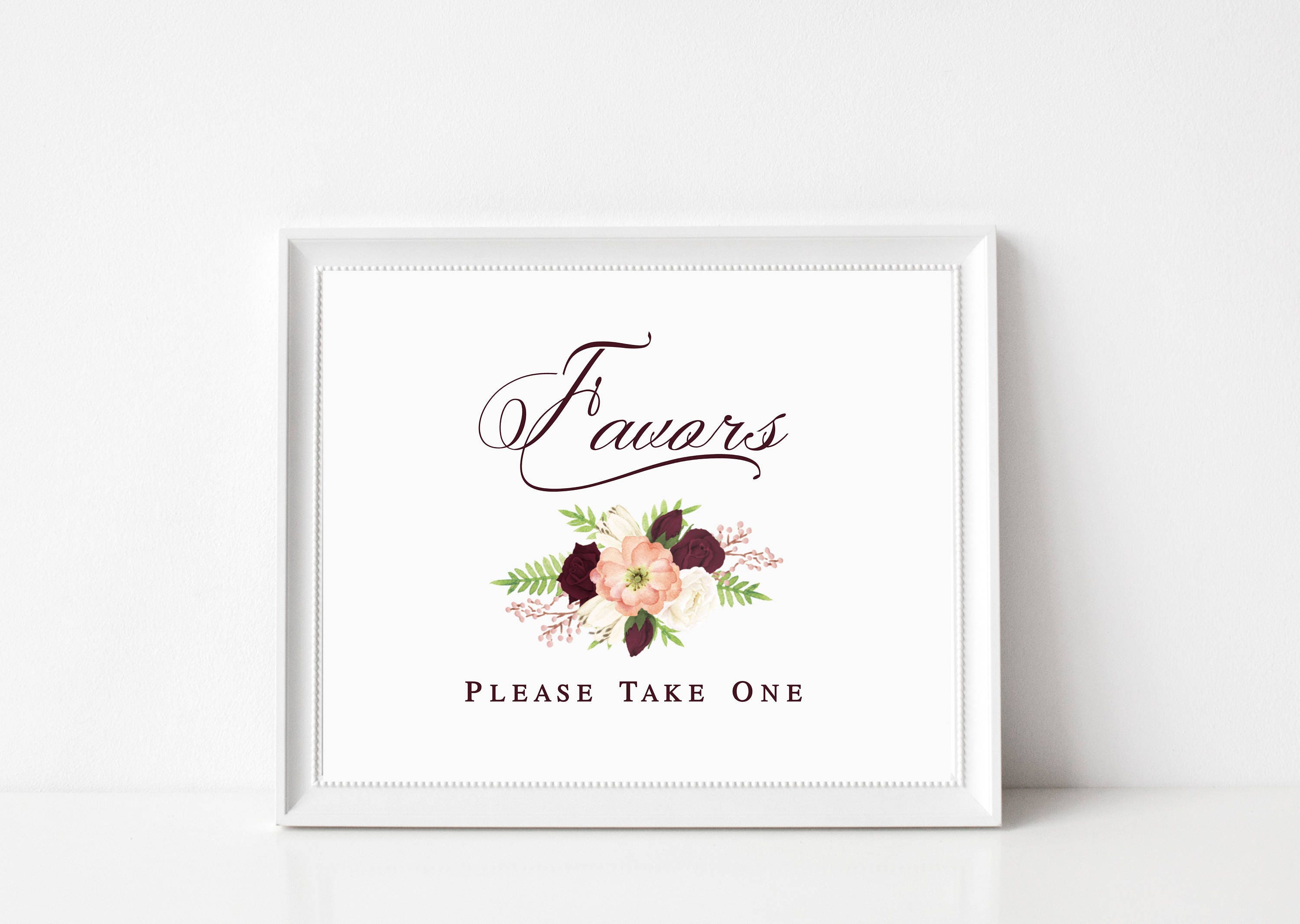 Wedding Favors Sign | Wedding Guest Gifts Sign | Wedding Reception ...