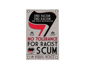 No Tolerance Canvas Sign