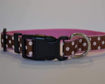 "Polka dot collar  (M-XL) 1"" wide"