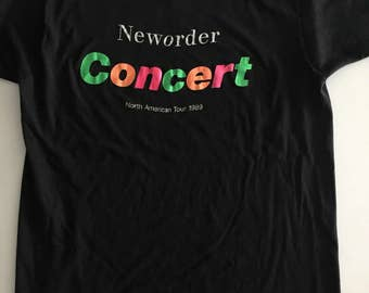 Vintage New Order 1989 Concert Tour T-Shirt Tee T Shirt — No Tag, fits like a M/L