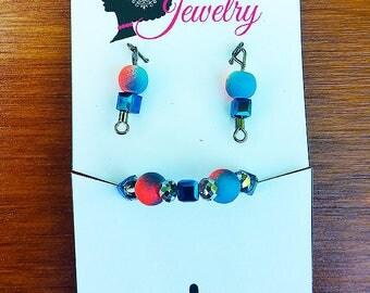 Fashion Doll Jewelry Set (Blue&Coral)