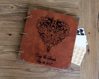 Personalized Heart Love  Wedding  Photo Album /Custom Wedding  Guest Book/wedding Scrapbook