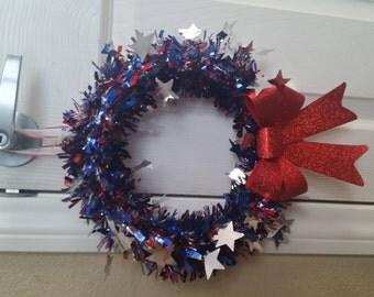 4th of July homemade door wreath