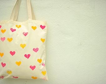 Hearts Handbag- Unique Hand painted Gifts
