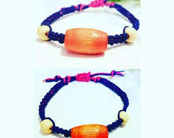 A colorful little hemp bracelet  OR Anklet that you will love