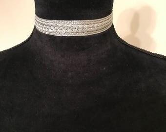 Woven Choker (silver)
