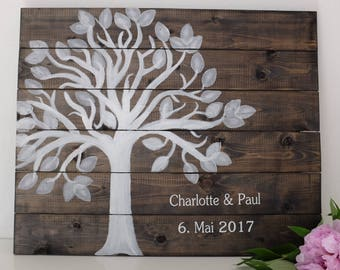 Guestbook * rustic * wedding tree from wood * an alternative to the traditional guest book