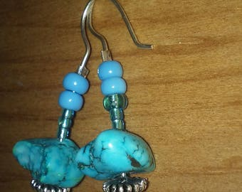 Turquoise and Glass on Silver (2)