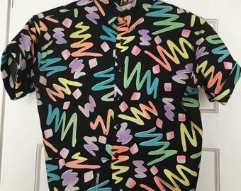 Vintage 80s pattern shirt