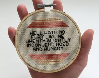 Hell Hath No Fury, Hangry Hoop Art