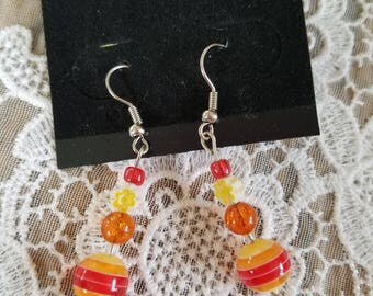 Warm Stripe Earrings