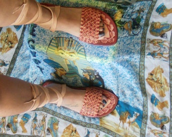 Handmade wrap leather sandal