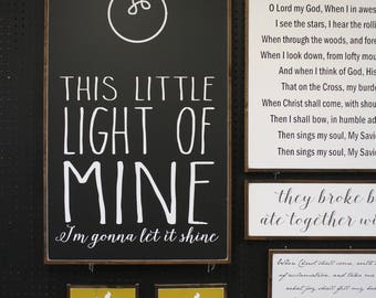 This Little Light Of Mine -Wood Sign *READY TO SHIP*