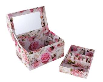 Handmade Eco-friendly Jewelry Paper Box For Mother Gift Girls' Decoration Storage Organization