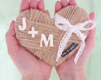 Holder rustic alliances, rings, Wedding-holder box