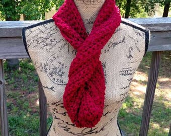 Knitted Acrylic Infinity Scarf